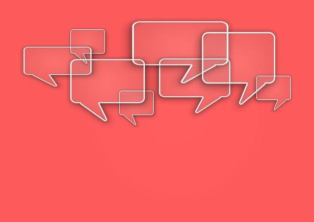 Burbujas de conversacion rojas